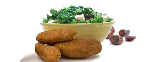 Sweet potato and date salad
