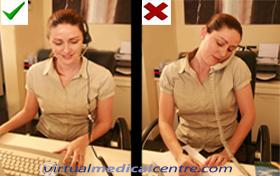 Good and bad phone posture