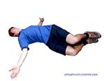Roll legs across the body